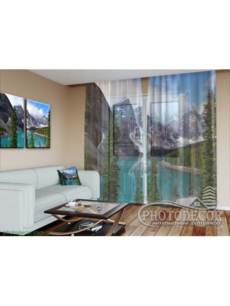 """3D ФотоТюль """"Озеро в горах"""""""