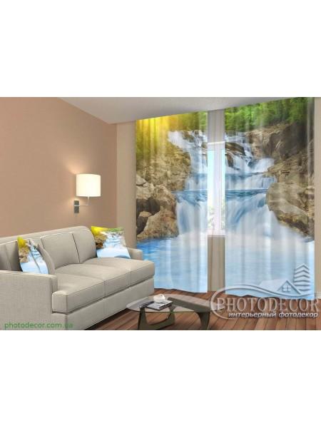 """3D ФотоШторы """"Водопад в тропическом лесу"""""""