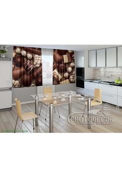 """Фото шторы для кухни """"Конфеты"""""""
