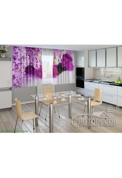 """Фото шторы для кухни """"Сирень"""""""