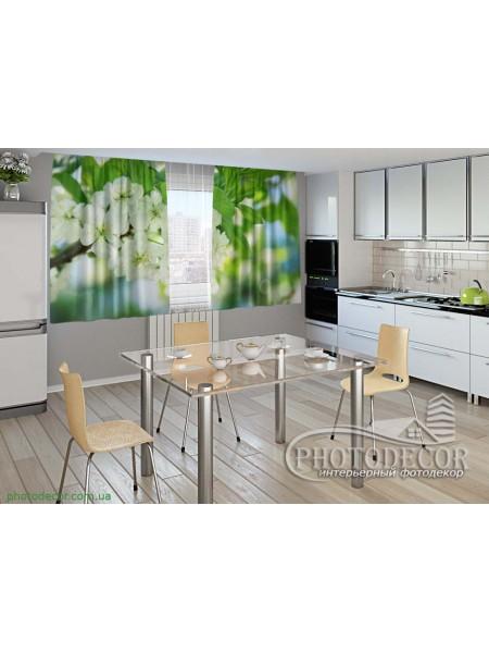 """Фото шторы для кухни """"Весенние цветы"""""""