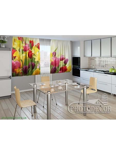 """Фото шторы для кухни """"Весна"""""""