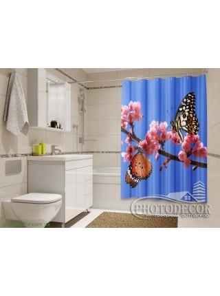 "3D ФотоШторы ""Две бабочки"""