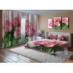 Фото Комплекты для спальни (шторы + покрывало + наволочки)