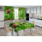 Фото Комплекты в кухню (шторы + скатерть)