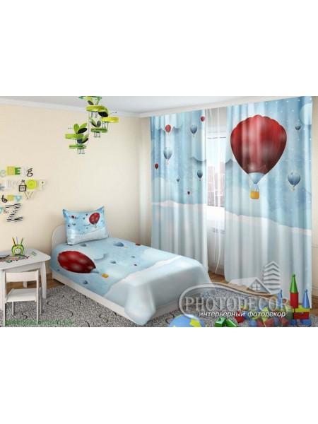 """Детские 3D Фото Шторы """"Воздушные шары"""""""